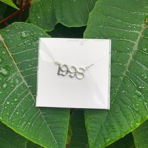 "NEW!! 💚 Birth Year Necklace ""1998"""